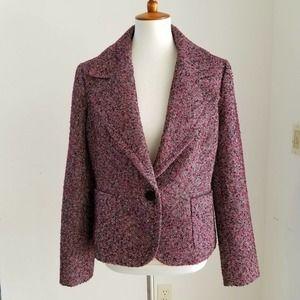 TALBOTS NEW Boucle Sparkly Tweed Jacket Size 12